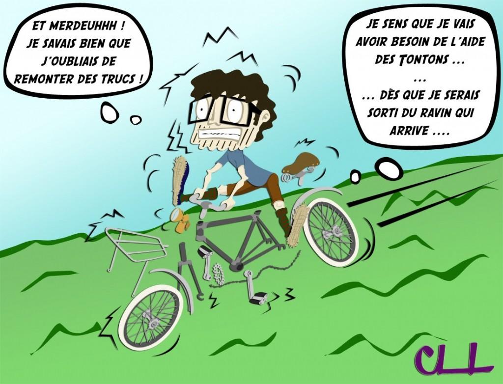 cycliste en péril